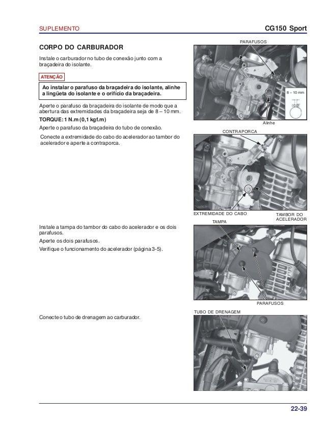 Manual de serviço ms cg150 sport suplemento 00 x6b-krm-003