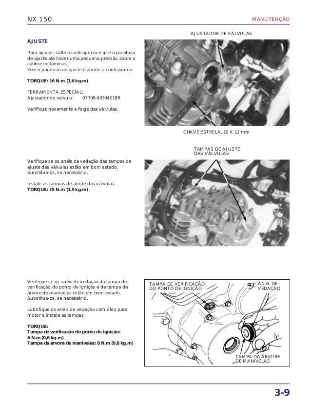 Manual de serviço nx150 manutenc