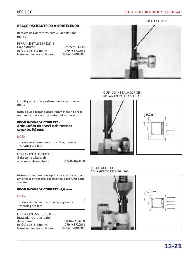 Manual de serviço nx150 rodatras
