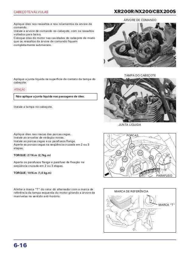 Manual de serviço nx200 xr cabecote
