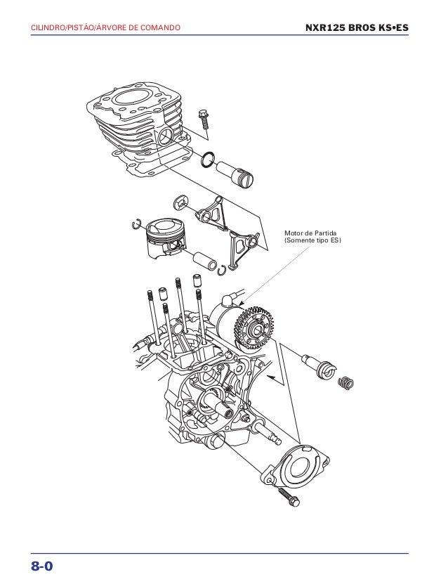 Manual de serviço nxr125 bros ks es 00 x6b-ksm-001 cilindro