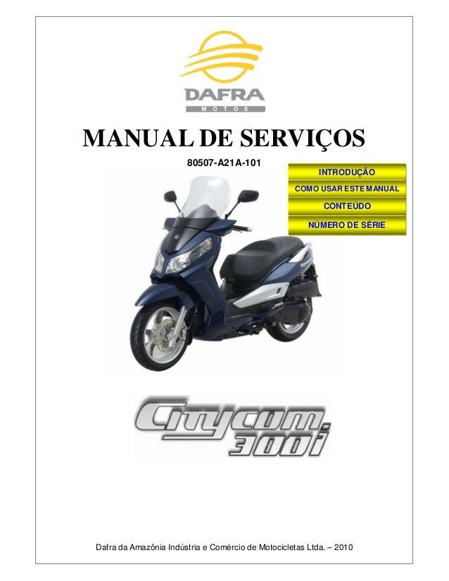 Manual de serviã§os citycom 300i   80507-a21 a-101