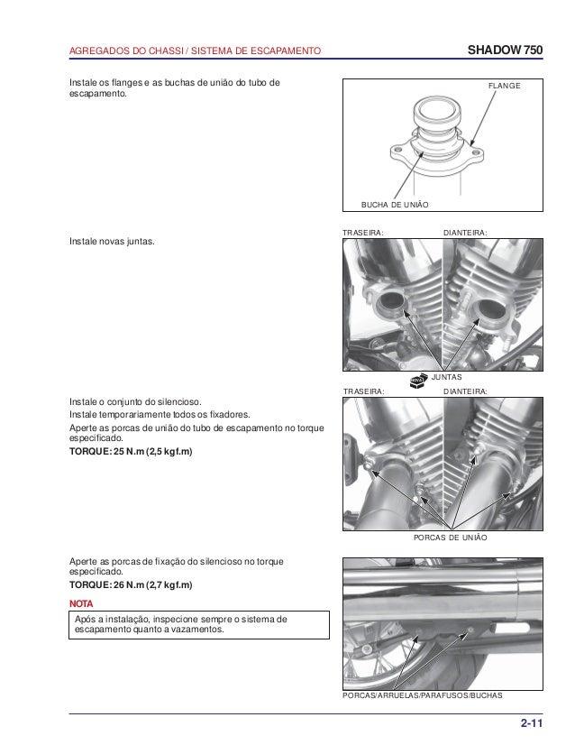 Manual de serviço shadow 750 00 x6b-meg-001 chassi