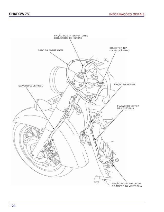 Manual De Servio Shadow 750 00 X6b Meg 001 Informacoes Gerais
