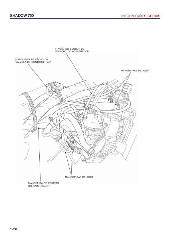 Manual de serviço shadow 750 00 x6b-meg-001 informacoes gerais
