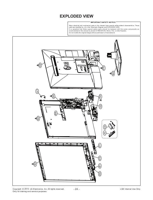 Manual de serviço TV LED LG 22LN4050TB chassis LB35A.