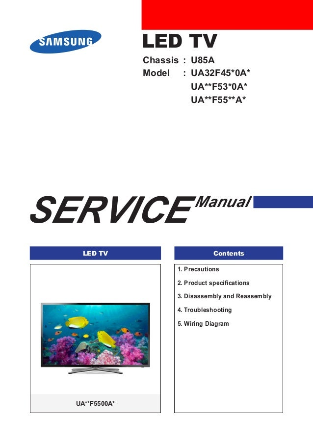 manual de servi o tv led samsung ua32 f5500 chassis u85a rh slideshare net samsung plasma service manual samsung plasma tv service manual