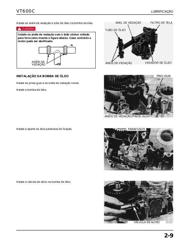 Manual de serviço vt600 c 00x6b-mz8-601 lubrific