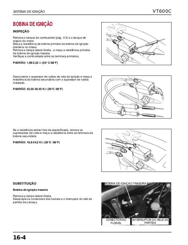 Manual de serviço vt600 c ignicao
