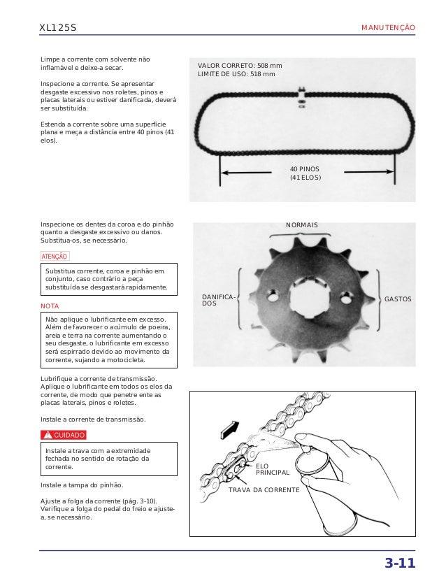 Manual de serviço xl125 s (1984) ms437841p manutenc