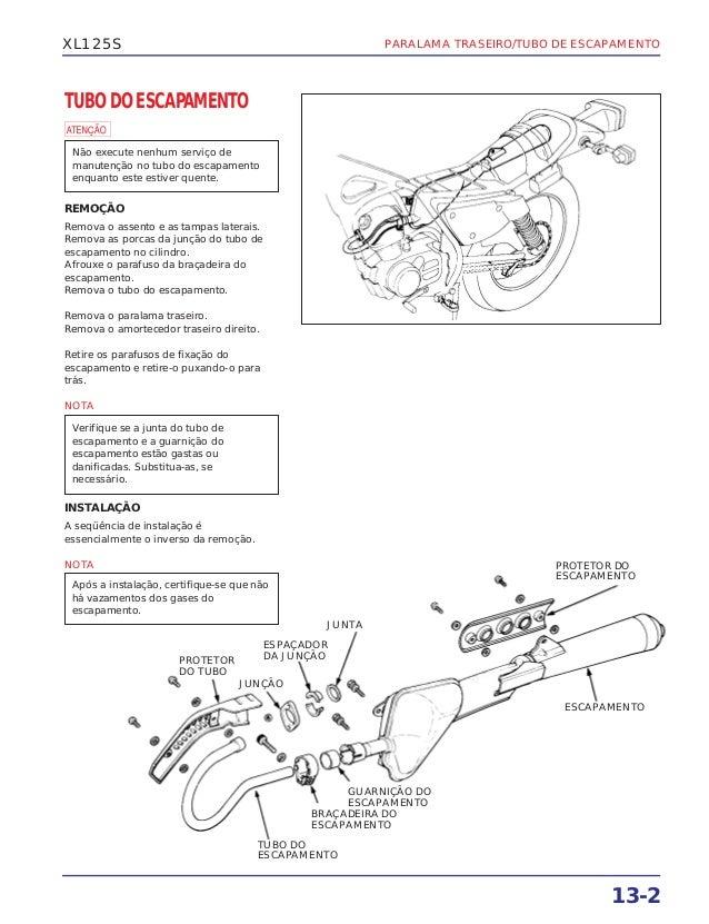 Manual de serviço xl125 s (1984) ms437841p paralama