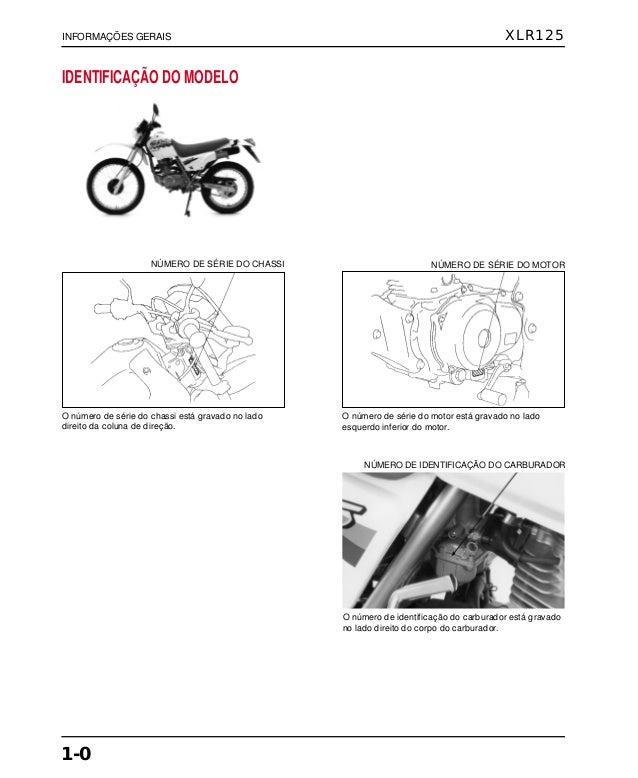 Manual de serviço xlr125 00 x6b-kfc-601 infgeral
