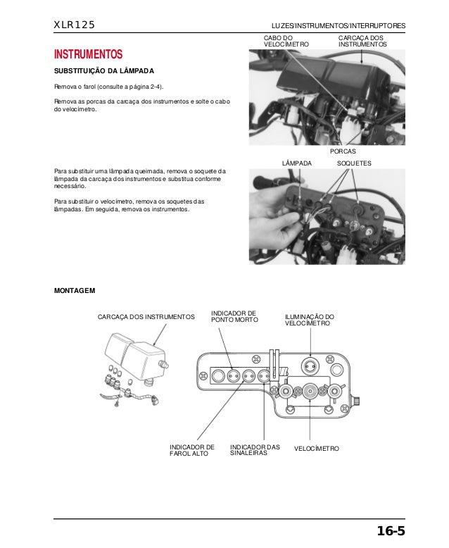 Manual de serviço xlr125 00 x6b-kfc-601 luzes