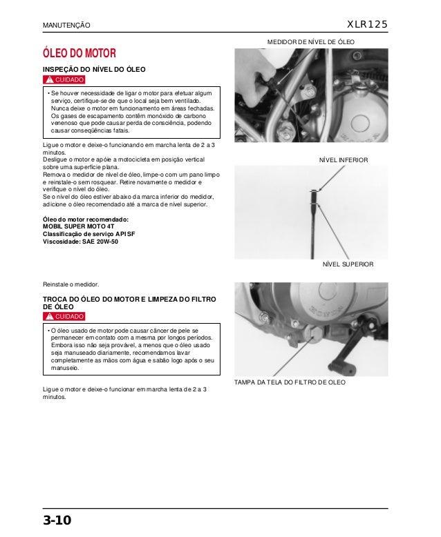 Manual de serviço xlr125 00 x6b-kfc-601 manutenc