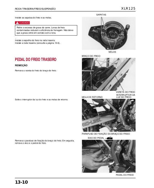 Manual de serviço xlr125 00 x6b-kfc-601 rodatras