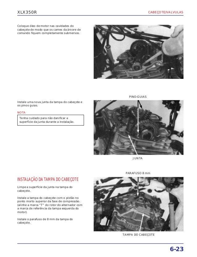 Manual de serviço xlx350 r cabecote
