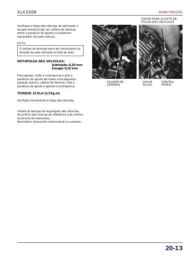 Manual de serviço xlx350 r suplemen