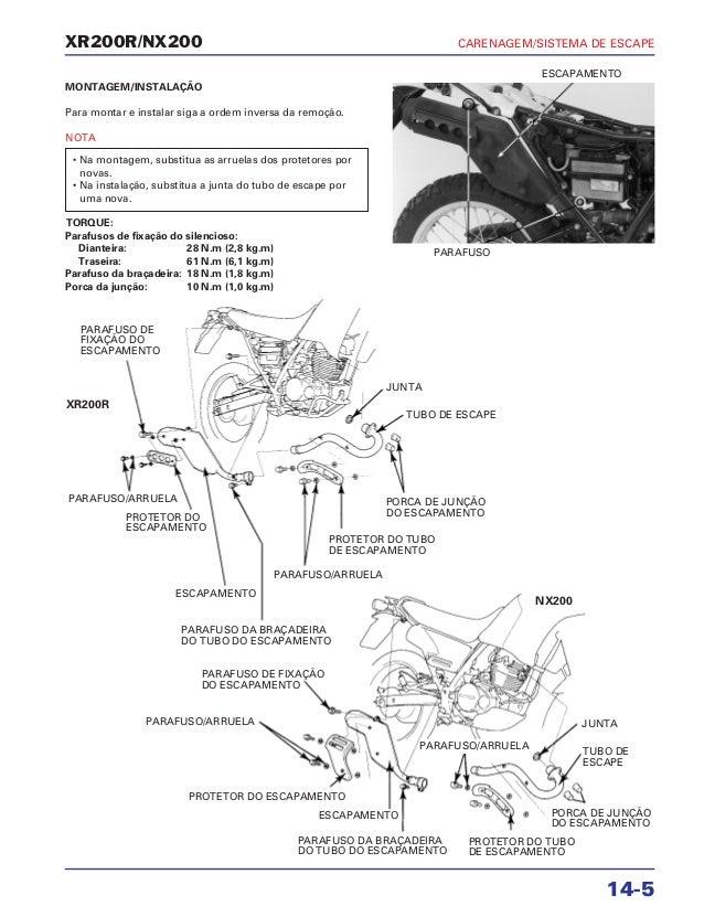 Manual de serviço xr200 r nx200 cbx200s mskbb931p carenage