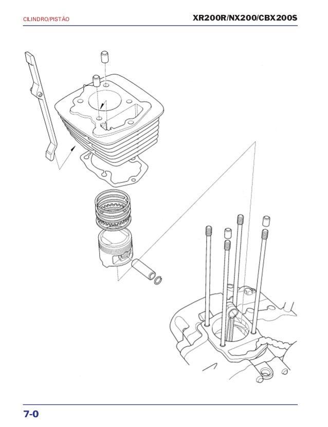 Manual de serviço xr200 r nx200 cbx200s mskbb931p cilindro