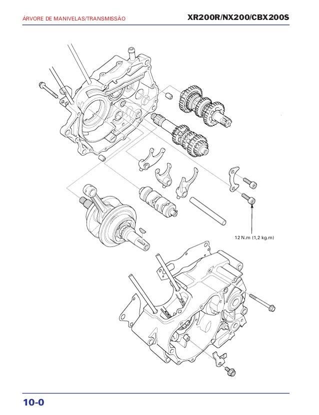 Manual de serviço xr200 r nx200 cbx200s mskbb931p manivela