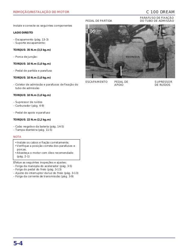 REMOÇÃO/INSTALAÇÃO DO MOTOR 5-4 Instale e conecte os seguintes componentes LADO DIREITO – Escapamento (pág. 13-3) – Suport...