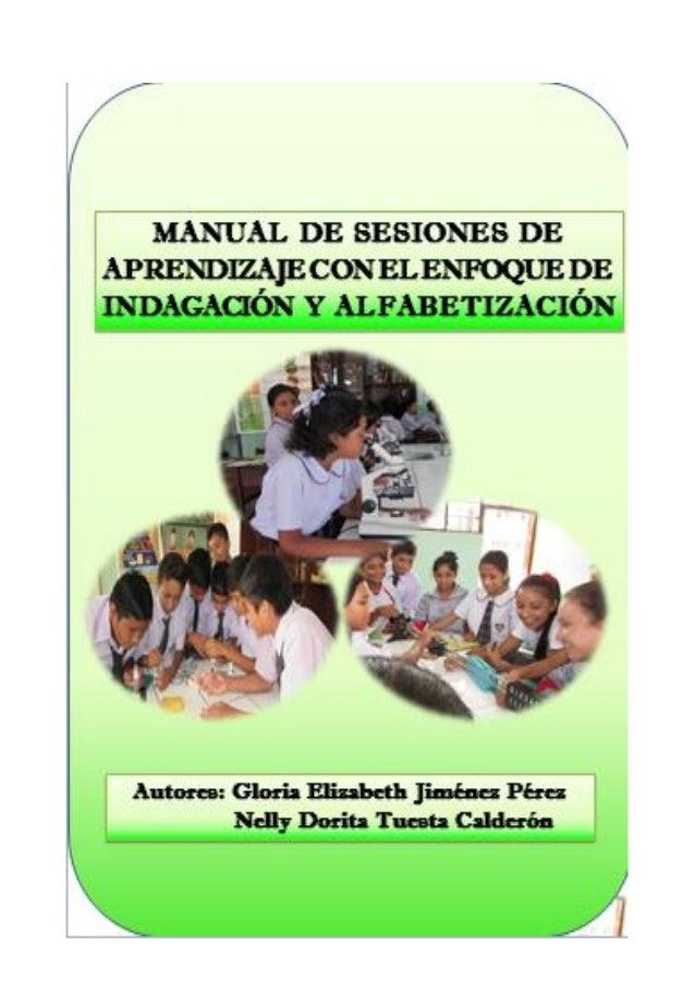 Manual de sesiones de aprendizaje con el enfoque de indagación Slide 1