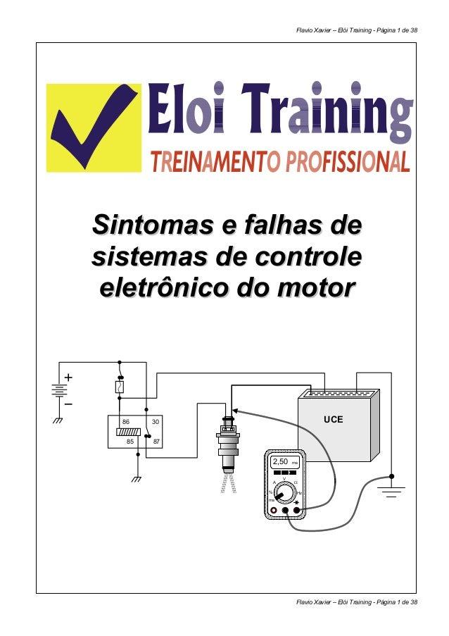 Flavio Xavier – Elói Training - Página 1 de 38Sintomas e falhas desistemas de controle eletrônico do motor  86    30      ...