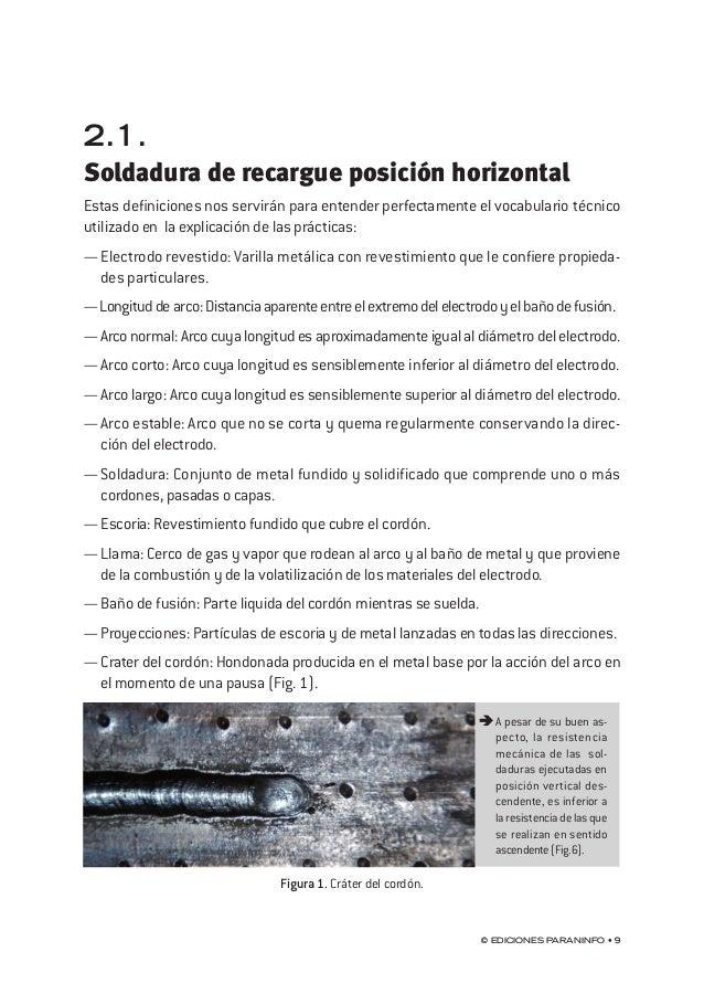 capítulo 2 © Ediciones Paraninfo • 13 A pesar de su buen aspecto, la resistencia mecánicadelas soldadurasejecutadasen pos...