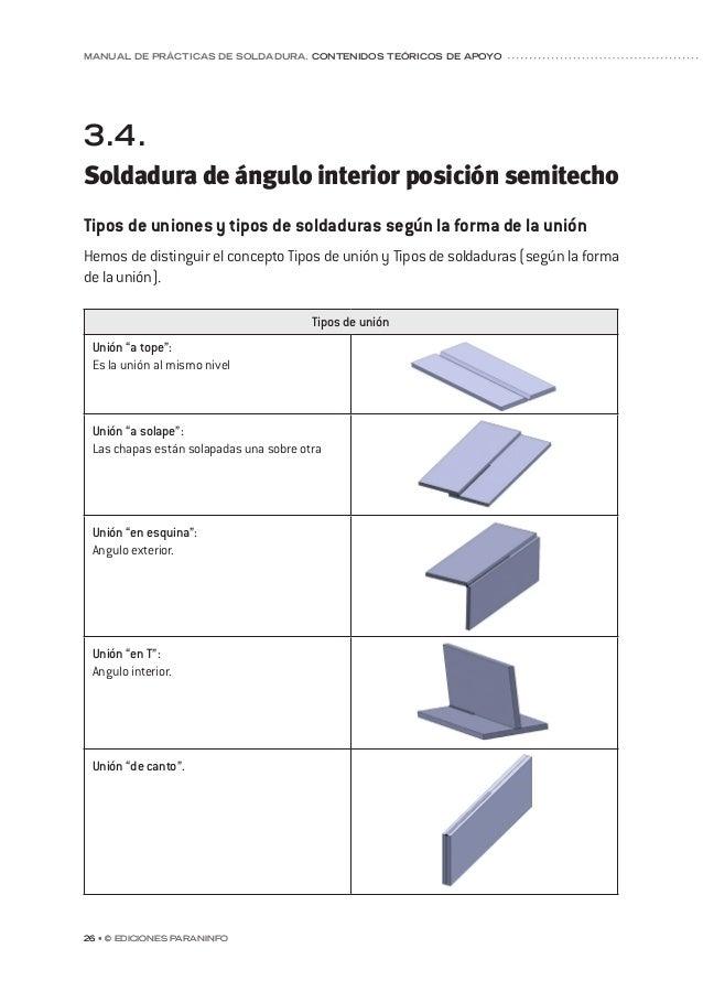 capítulo 5 © Ediciones Paraninfo • 33 Posición: Todas. Especialmente adecuado para soldar en posición vertical y bajo tech...