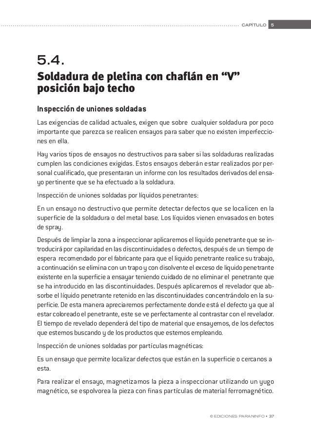 44 • © Ediciones Paraninfo manual de prácticas de soldadura. contenidos teóricos de apoyo 44 • © Ediciones Paraninfo Defec...