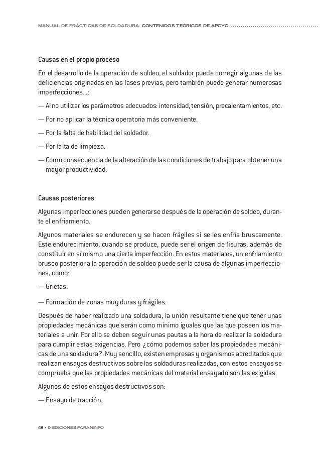 capítulo 5 © Ediciones Paraninfo • 55 ESPECIFICACION PROCEDIMIENTO DE SOLDEO WELDING PROCEDURE SPECIFICATION (WP.S.) SOPOR...