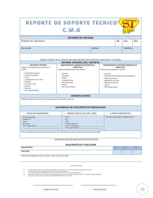Manual de Procedimientos Soporte Tecnico