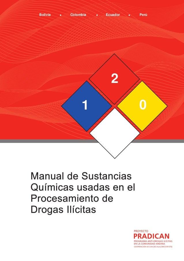 ManualdeSustanciasQuímicasusadasenelProcesamientodeDrogasIlícitas http://www.comunidadandina.org/pradican.htm 1 2 0 Bolivi...