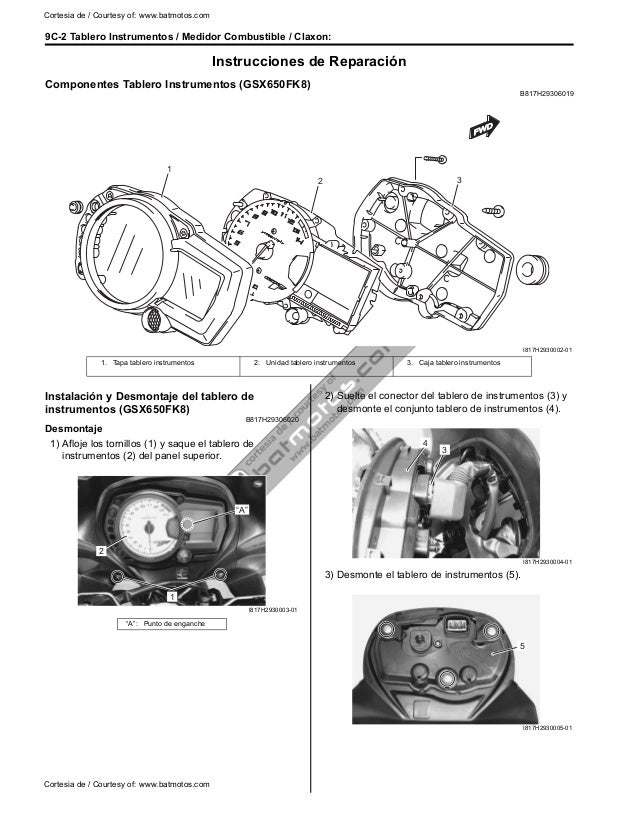 Manual de taller gsx 650 f k8