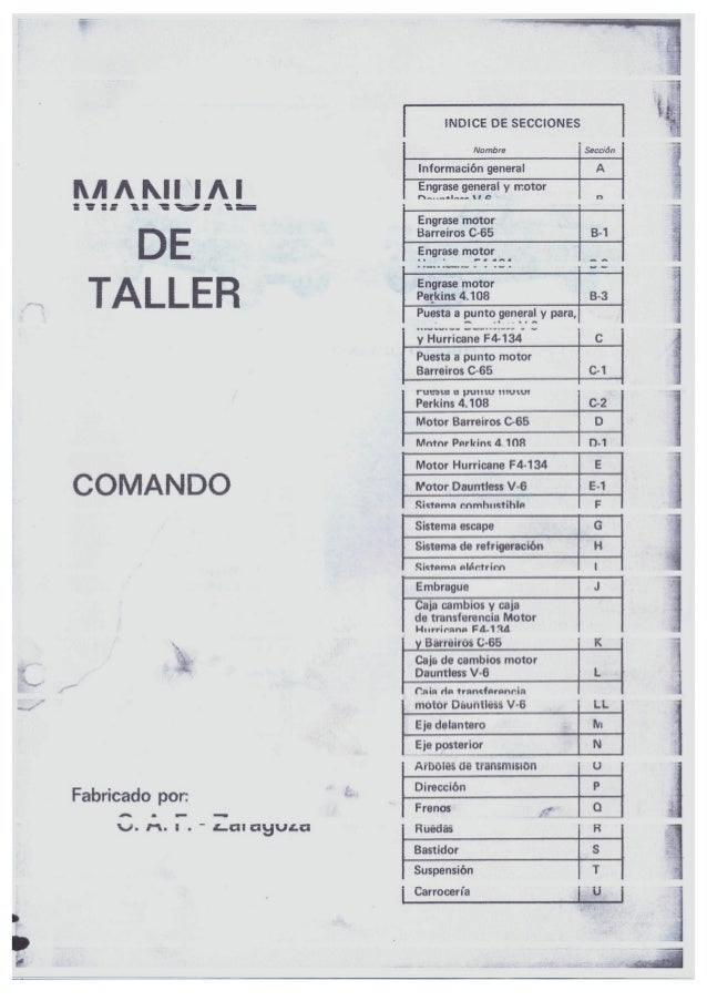 Manual de Taller Jeep Comando Slide 2