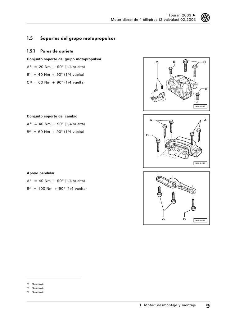 Manual de tallervwtouran motor desmontaje y montaje 15 sciox Gallery