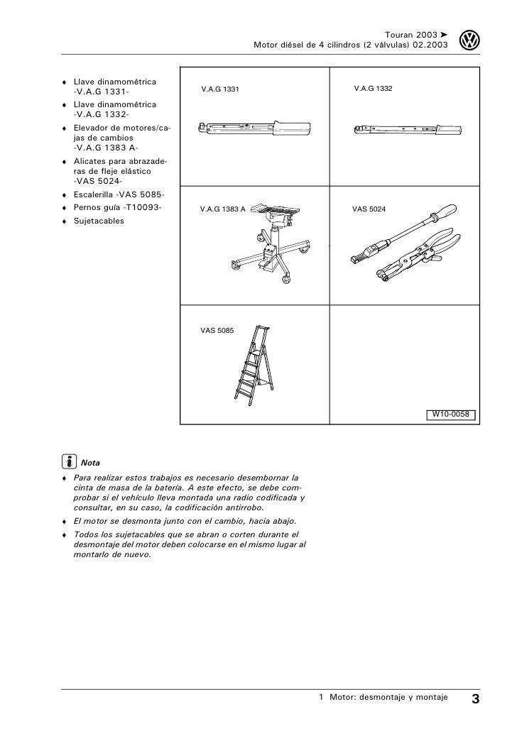 Manual de tallervwtouran motor desmontaje y montaje 9 sciox Gallery