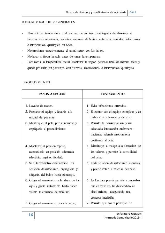 manual de t cnicas y procedimientos de enfermer a