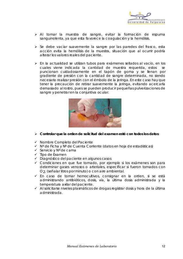 manual de tecnicas de toma de muestras para examenes de laborator