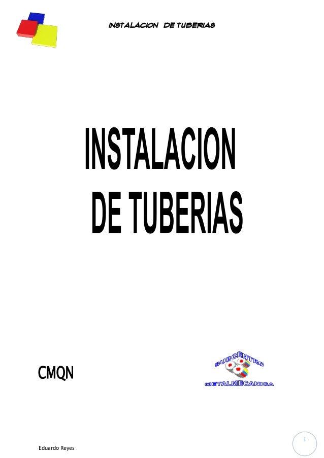 Manual de tuberias; tipos y procesos
