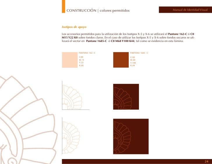 CONSTRUCCIÓN | variación colores tipografía                                        Manual de Identidad VisualVariación col...