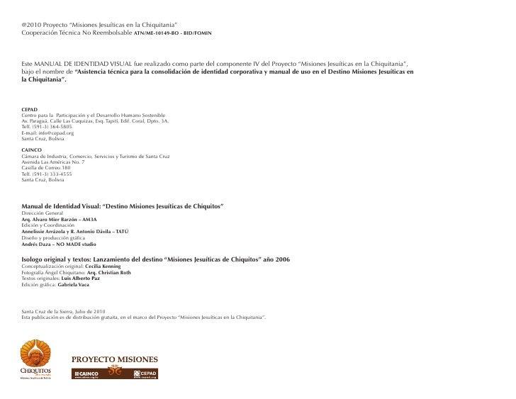 Manual de Identidad Visualmanual de identidad visualDestino Misiones Jesuíticas de Chiquitos