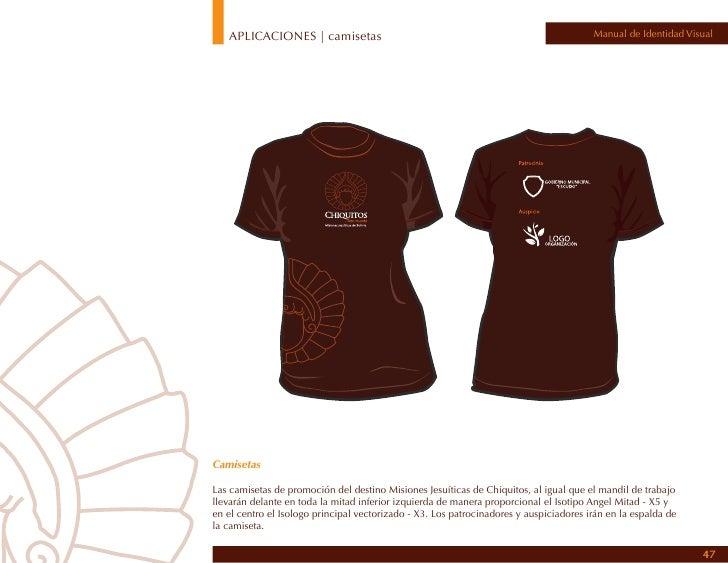 APLICACIONES | camisas                                                                      Manual de Identidad Visual    ...