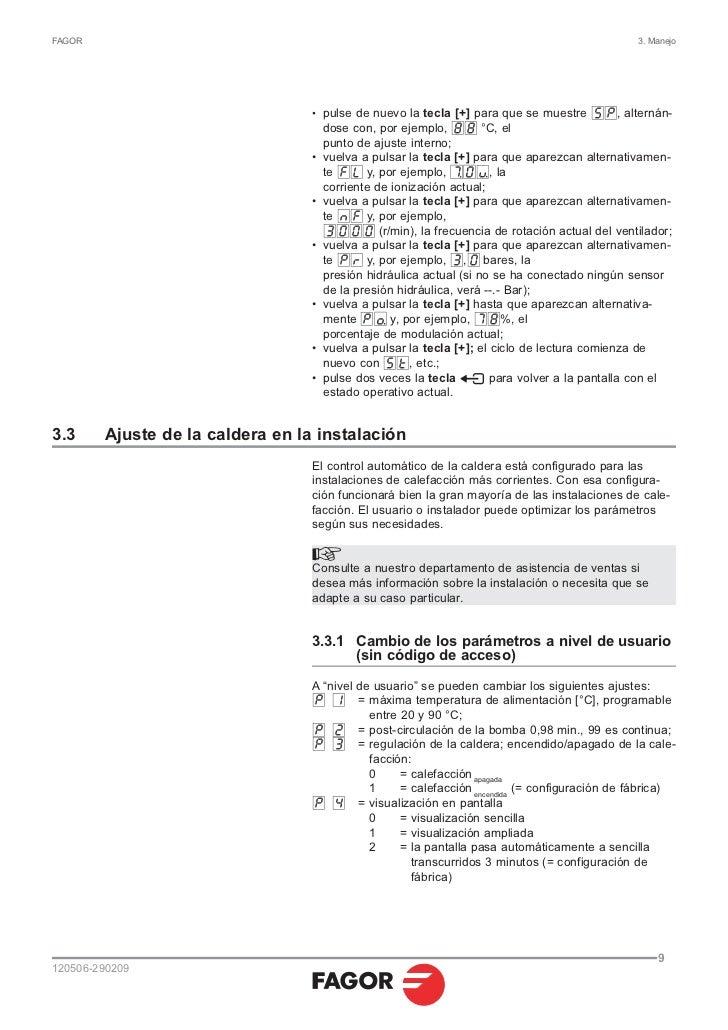 Manual de uso 120506 090209 servicio tecnico fagor for Servicio tecnico fagor burgos