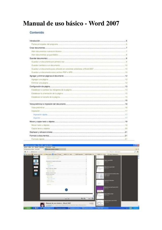 Manual de uso básico - Word 2007