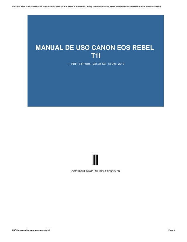 Canon t1i / 500d / kiss x3 manual available for download.