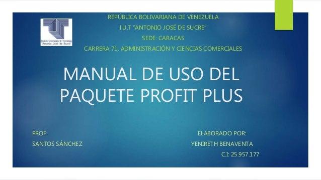 Manual profit plus nomina.