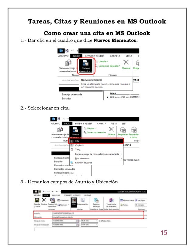 Manual de uso de ms outlook