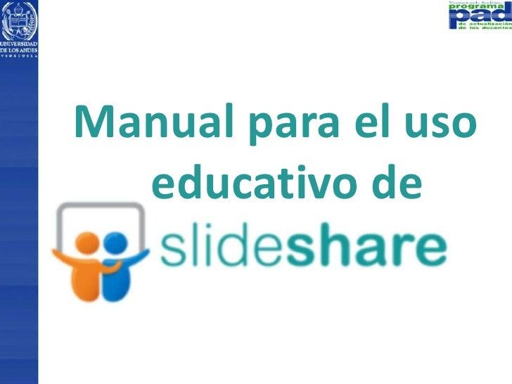Manual para el uso  educativo de