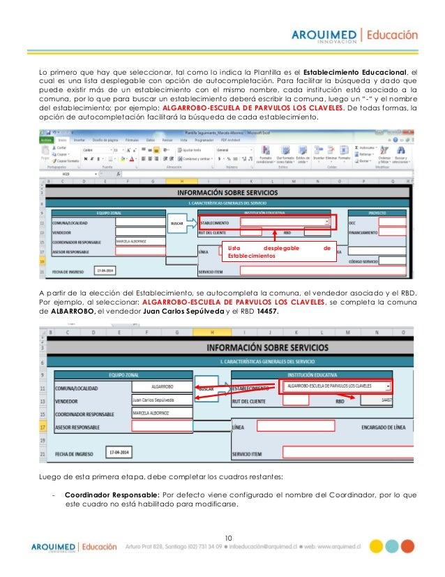 Manual de uso plantilla de seguimiento y monitoreo